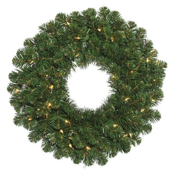 Vickerman Oregon Fir Wreath, Dura-Lit 100 Clear, 36