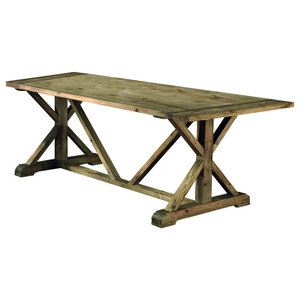 Pino Aged Pine Dining Table, Small