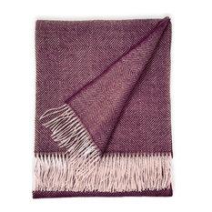 Dynasty Throw Blanket, Baby Alpaca Wool, Baltic Ave