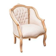 Louis XVI Wraparound Armchair, Cream Velvet