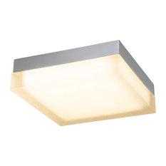 "WAC Lighting Dice Square LED Flush Mount, Brushed Nickel, 12"", Warm White 2700k"