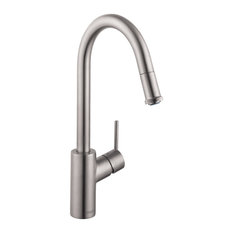 Hansgrohe Talis S_ Higharc Kitchen Faucet, 1-Spray, Steel Optic