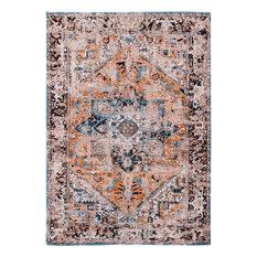 Louis De Poortere - Antiquarian 8705 - 5ft 7in x 7ft 10in Orange Rust