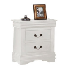 Acme Furniture   Louis Philippe Nightstand, White   Nightstands And Bedside  Tables
