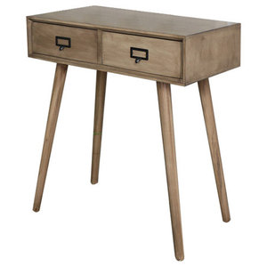 Wooden Retro Style 2 Drawer Wooden Console Table - Brixham Range