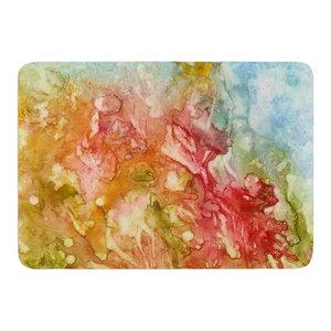 Kess InHouse Rosie Brown Tropical Garden Leaf Green Memory Foam Bath Mat 17 by 24