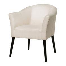 GDF Studio Charmaine Low Back Fabric Arm Chair, Beige