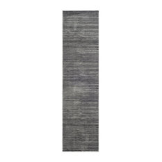 "Residence - Powell Runner Rug, Gray, 2'2""x8' - Hall and Stair Runners"