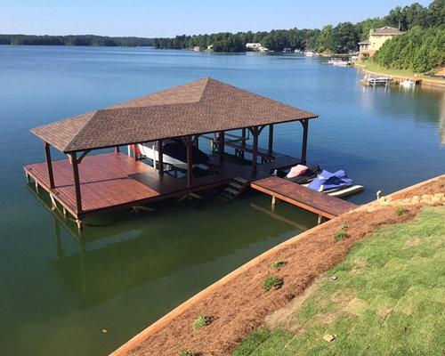 Inspiration For A Mid Sized Timeless Backyard Dock Remodel In Atlanta