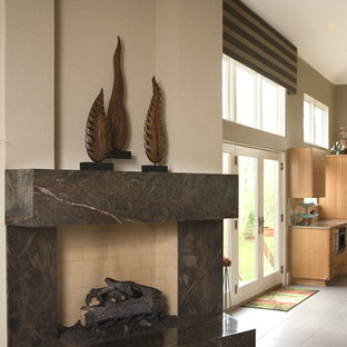 Full Wall Fireplace