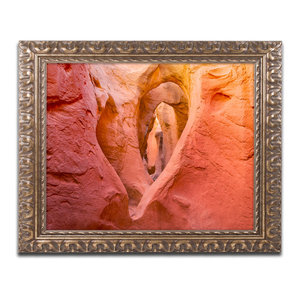 Michael Blanchette 'Heart in Stone' Ornate Framed Art, 14x11
