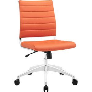 Bailey Armless Mid Back Office Chair, Orange