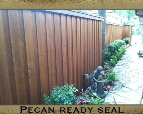 Pecan Stain Fence