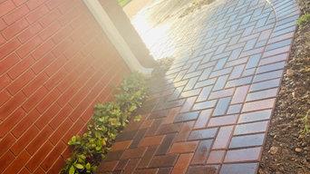 Paver Walkway Leading to Backyard