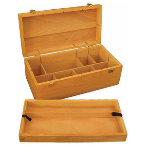 Traditional Storage Chest in Solid Beechwood with Lid and Inner Compartments