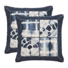 Safavieh Dip-Dye Quartre Patch Pillow, Set of 2