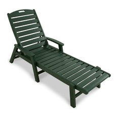 Trex Outdoor Furniture Yacht Club Chaise with Arms, Stackable, Rainforest Canopy