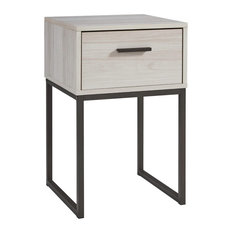 Socalle Natural Wood 1-Drawer Night Stand by Ashley Furniture Industries