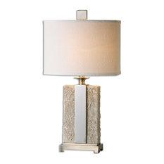 Uttermost Bonea Stone Table Lamp, Ivory
