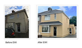External Wall Insulation on a semi detached property in Bristol