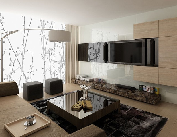 Contemporain Images de Synthèse Modern Basement