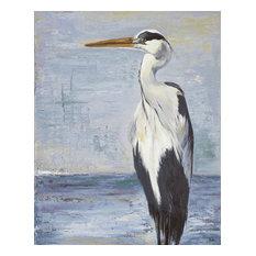 """Blue Heron on Blue II"" Canvas Art, 24""x36"""
