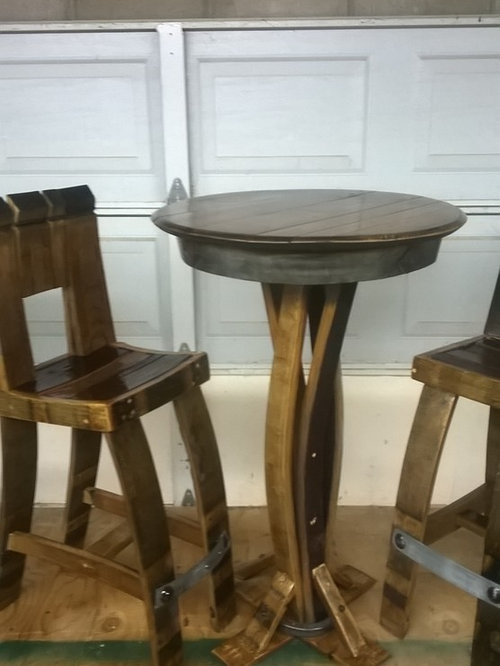 how to make wine barrel furniture
