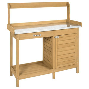 Surprising Convenience Concepts Deluxe Potting Bench With Cabinet Ibusinesslaw Wood Chair Design Ideas Ibusinesslaworg