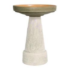 Replacement Birdbath Bowl Top for Purple Lavender Handcrafted Clay Birdbath