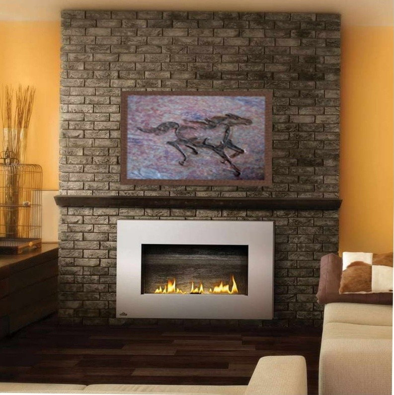 """Fireplace Focal Point """"Wild Mustang 3"""""""