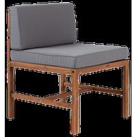 Modular Outdoor Acacia Armless Chair, Brown