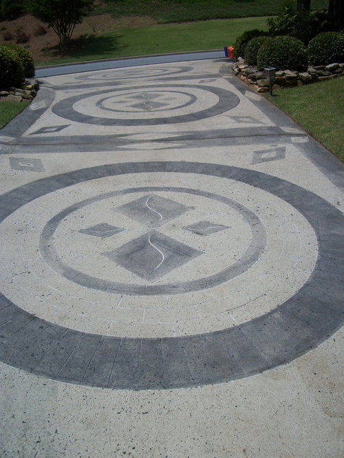 Stamped Concrete Medallions : Concrete medallions houzz