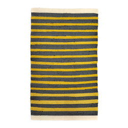 re:loom - re:loom Handwoven Small Rug, Gold Nugget - Rugs