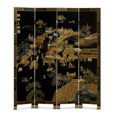 Hand-Painted Chinoiserie Floor Screen