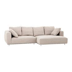 "Sand Sofa, Eichholtz Colorado, Beige, 121""x60""x35"""