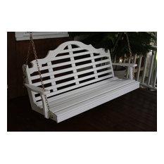 5' Pine Porch Swing in Marlboro Design, Oak Stain