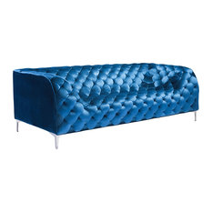 Velvet Tufted Sofas Amp Couches Houzz