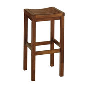 "Home Styles 24"" Backless Counter Stool in Cottage Oak"