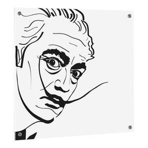 Salvador Dali UV Print on ESG Glass Kitchen Splashback, 60x50 cm