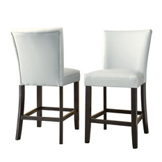 Steve Silver Co Matinee Bonded Leather Counter Chairs Set of 2 Bar Stools
