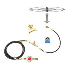 """36"""" Double Ring and Complete Deluxe Propane Fire Pit Kit"""