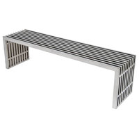 59 in. Stainless Steel Bench in Polished