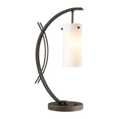 Woodbridge Lighting Eclipse Table Lamp, Faux Opal Glass, Bronze