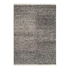 Contemporary Area Rug, Rover Collection, Ebony, 4'x6'