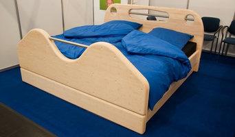 Doppelbett aus Massiv-Bambus