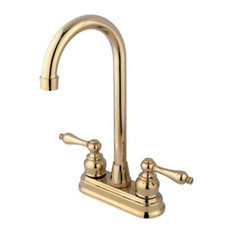 kingston brass 2handle centerset higharch faucet polished brass