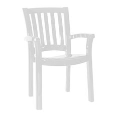 Sunshine Resin Dining Arm Chair, Set of 4, White