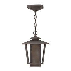 "Theo 11.25"" 13W 1 LED Outdoor Hanging Lantern, Oil Rubbed Bronze"