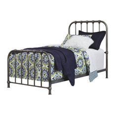 Nashburg Twin Metal Bed in Silver