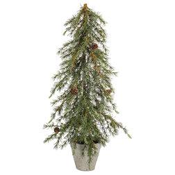 Rustic Christmas Trees by Melrose International LLC